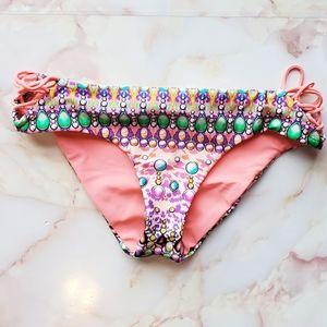 NEW Luli Fama Miami Gem Bikini Bottoms